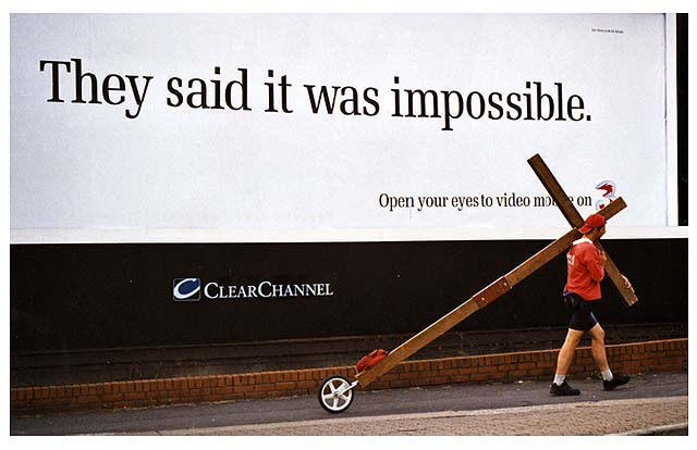 As Counties evangelist Clive Cornish returned to Cardiff after his walk around Wales he passed a billboard with a poster saying -they said it was impossible.