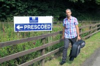 Counties Evangelist Clive Cornish outside Prescoed Prison