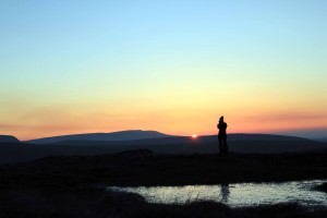Brecon Beacons - Sunset from Fan Fawr - Photographer Lathan Ball for Mountain holidays and Pilgrim Walks