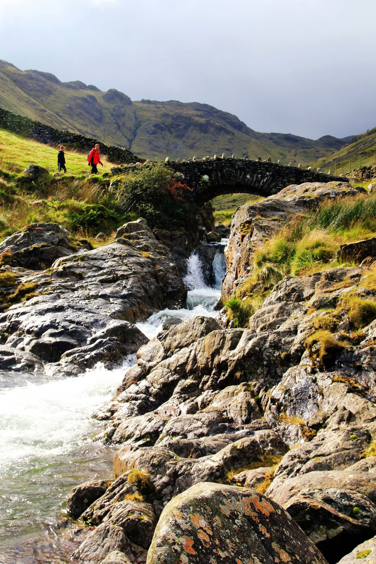 Lake District - Stockley Bridge on the way to Sty Head Tarn - Photography Lathan Ball for Mountain Christian holidays and Pilgrim Walks and guided mountain walks and wild camping experiences