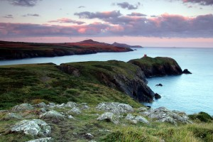 Pembrokeshire Coastal Path -early morning light near Aberreiddy photograph Lathan Ball